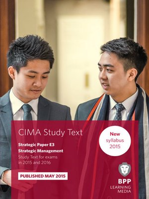 cover image of CIMA - E3 - Strategic Management