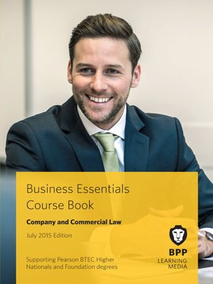cover image of Company and Commercial Law Course Book 2015