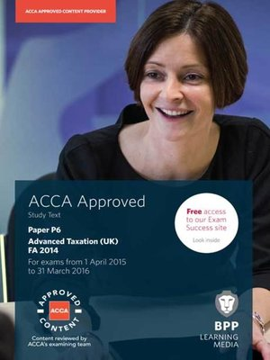 cover image of ACCA P6 Advanced Taxation FA2014