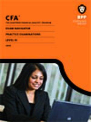 cover image of CFA Navigator - Level 3 Mock Examinations