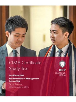 cover image of CIMA Fundamentals of Management Accounting