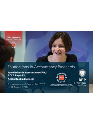 cover image of FIA Foundations of Accountant in Business FAB (ACCA F1): Passcards