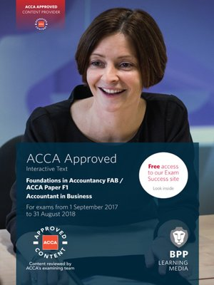 cover image of FIA Foundations of Accountant in Business FAB (ACCA F1): Interactive Text