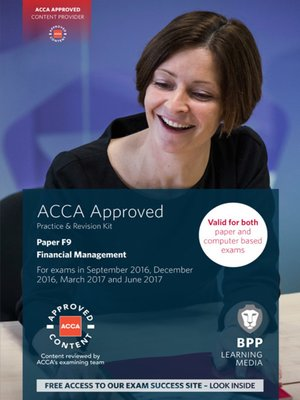 cover image of ACCA F9 Financial Management (2016)