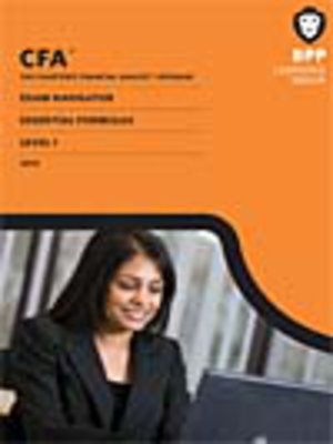 cover image of CFA Navigator - Level 1 Essential Formulas