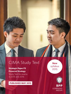 cover image of CIMA - F3 - Financial Strategy