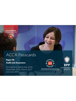 cover image of ACCA F8 Audit and Assurance (2016)