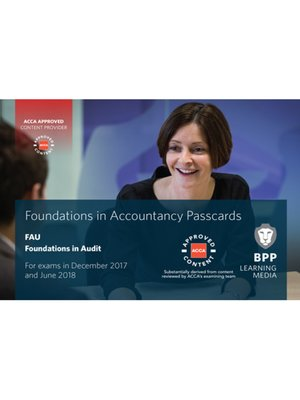 cover image of FIA Foundations in Audit (International) FAU INT: Passcards