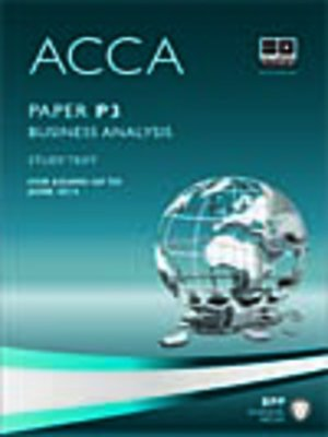 cover image of ACCA P3 - Business Analysis - Study Text 2013