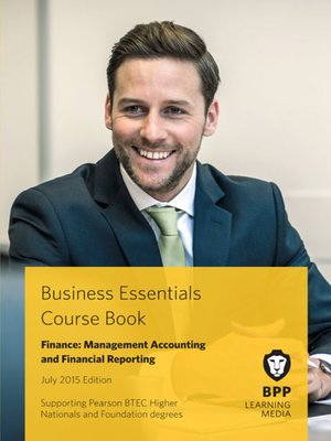 cover image of Finance: Management Accounting and Financial Reporting Course Book 2015