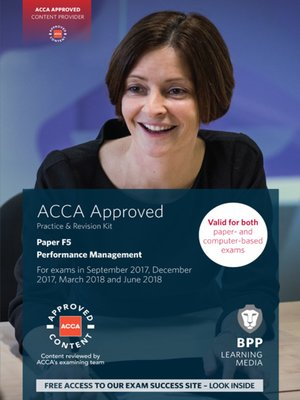 cover image of ACCA F5 Performance Management: Practice and Revision Kit
