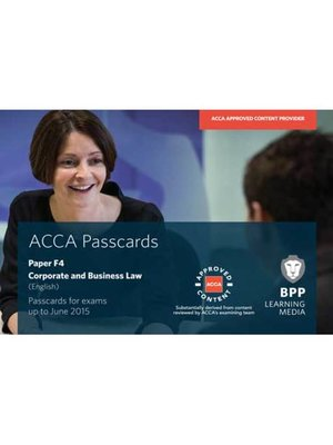 cover image of ACCA F4 Corporate and Business Law (English)