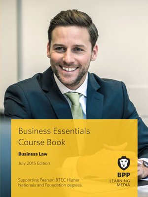 cover image of Business Law Course Book 2015