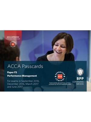 cover image of ACCA F5 Performance Management (2016)