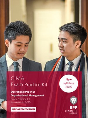 cover image of CIMA - E1 - Organisational Management