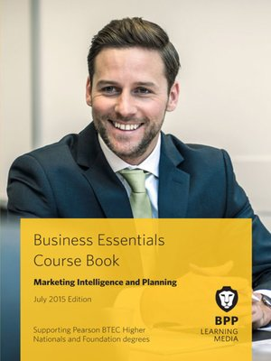 cover image of Marketing Intelligence and Planning Course Book 2015