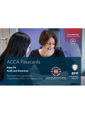 cover image of ACCA F8 Audit and Assurance