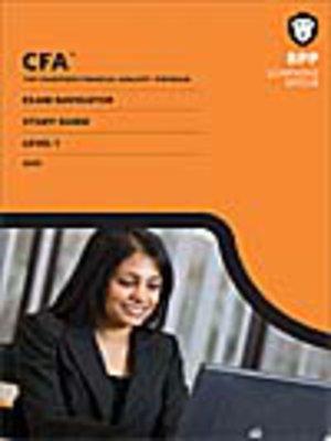 cover image of CFA Navigator - Level 1 Exam Navigator Study Guide