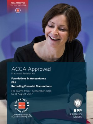 cover image of FIA Recording Financial Transactions FA1 (2016)