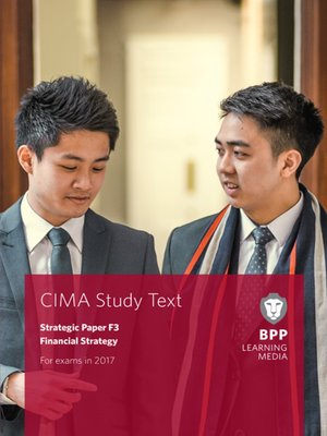 cover image of CIMA F3 Financial Strategy: Study Text