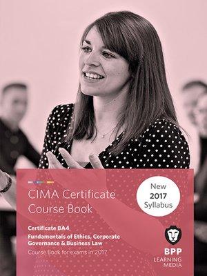CIMA BA4 Fundamentals of Ethics, Corporate Governance and