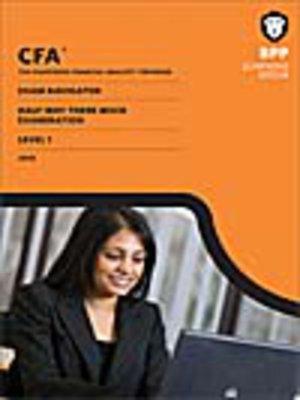 cover image of CFA Navigator - Level 1 Halfway-There Mock Exam