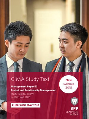 cover image of CIMA - E2 - Project and Relationship Management