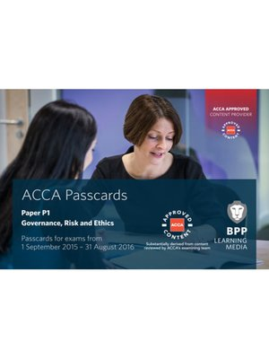 cover image of ACCA P1 Governance, Risk and Ethics