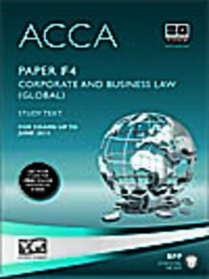 cover image of ACCA F4 - Corp and Business Law (GLO) - Study Text 2013