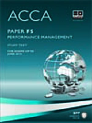 cover image of ACCA F5 - Performance Mgt - Study Text 2013