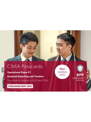 cover image of CIMA - F1 - Financial Reporting and Taxation
