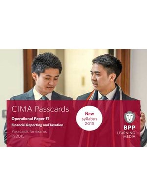 cover image of CIMA F1Financial Reporting and Taxation