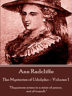 cover image of The Mysteries of Udolpho, Volume 1