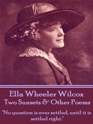 cover image of Two Sunsets & Other Poems