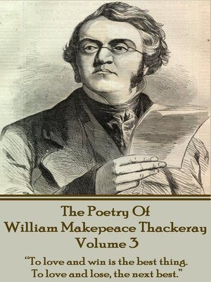 cover image of The Poetry of William Makepeace Thackeray, Volume 3