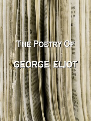 cover image of The Poetry of George Eliot