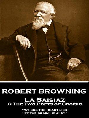 cover image of La Saisiaz & the Two Poets of Croisic