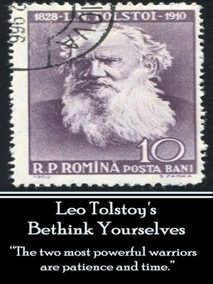 cover image of Leo Tolstoy's Bethink Yourselves