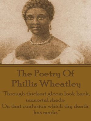 cover image of The Poetry of Phyllis Wheatley