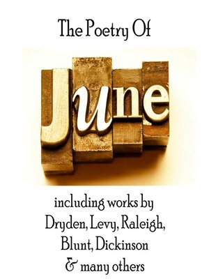 cover image of The Poetry of June