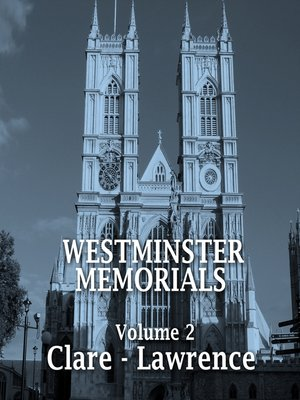 cover image of Westminster Memorials, Volume 2