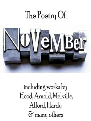 cover image of The Poetry of November