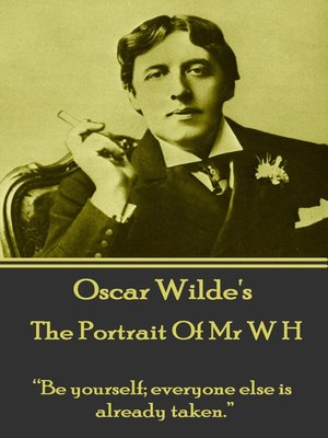 cover image of The Portrait of Mr W H