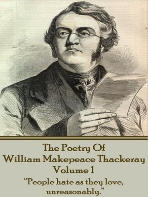 cover image of The Poetry of William Makepeace Thackeray, Volume 1