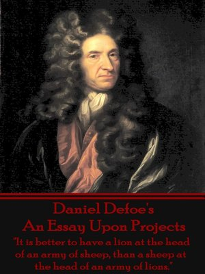 cover image of An Essay Upon Projects