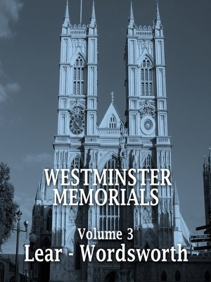 cover image of Westminster Memorials, Volume 3