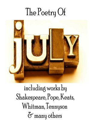cover image of The Poetry of July
