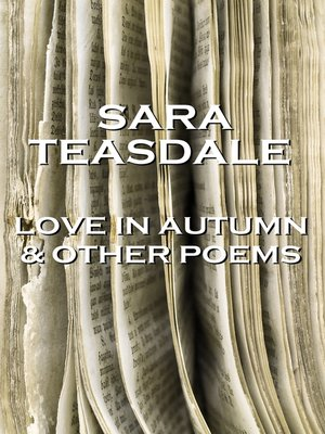 cover image of Love in Autumn & Other Poems