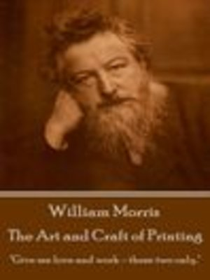 cover image of The Art and Craft of Printing