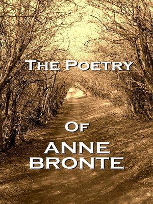 cover image of The Poetry of Anne Brontë